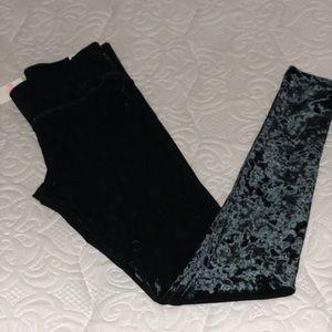 Black XS velvet leggings pink Victoria secret